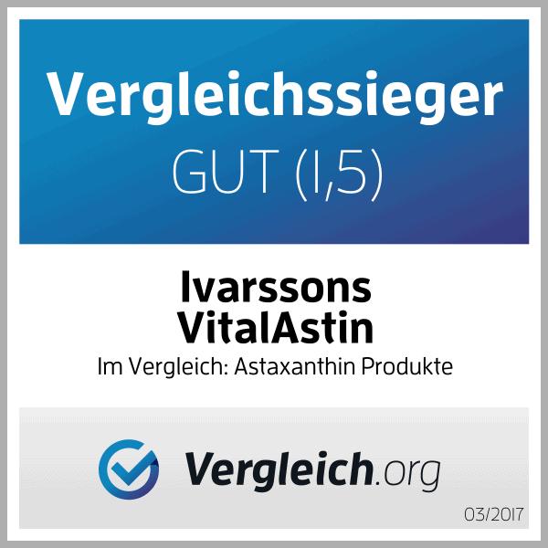 Astaxanthin Bewertungen von Ivarssons VitalAstin mit natürlichem Astaxanthin günstig kaufen bei Esovita shop für Astaxanthin mit 20% Nachlass